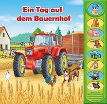 EinTag auf dem Bauernhof - 8-Button-Soundbuch - interaktives Bilderbuch mit 8 lustigen Geräuschen vom Bauernhof
