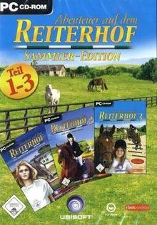 Abenteuer auf dem Reiterhof, Sammler-Edition, Teil 1-3, CD-ROM Für Windows 98, ME, 2000, XP