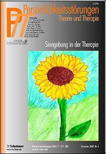 Persönlichkeitsstörungen PTT / Selbstverletzendes Verhalten: Bd. 4/2007