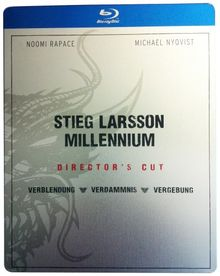 Stieg Larsson Millennium (Director's Cut) Steelbook [3 Blu-ray]