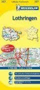 Lothringen: Radwege und autofreie Wege, Routenvorschläge, Stadtpläne: Metz, Nancy (Michelin Localkarte)
