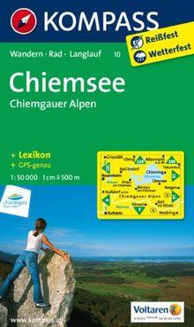 Chiemsee - Chiemgauer Alpen 1 : 50 000: Wanderkarte mit Kurzführer, Radwegen und Loipen. GPS-genau