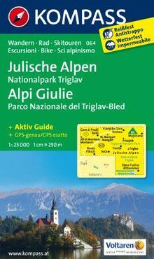Julische Alpen - Alpi Giulie 1 : 25 000: Wanderkarte mit Aktiv Guide, alpinen Skirouten und Radrouten. GPS-genau. 1:2500