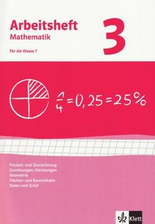 Arbeitshefte Mathematik - Neubearbeitung: Arbeitshefte Mathematik 3. Neubearbeitung. Prozent- Zinsrechnung, Zuordnungen, Gleichungen, Geometrie, ... Arbeitsheft plus Lösungsheft: BD 3