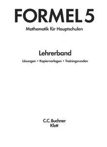 Formel, Mathematik für Hauptschulen in Bayern, Neuausgabe : 5. Schuljahr, Lehrerband