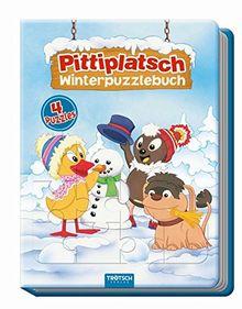 """Winterpuzzlebuch """"Pittiplatsch"""": 4 Puzzle mit Farbvorlage"""