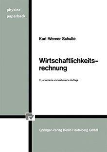 Wirtschaftlichkeitsrechnung (Physica-Paperback)