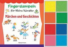 Fingerstempeln für kleine Künstler-Set. Märchen und Geschichten selber stempeln und erzählen.: Buch und acht Stempelkissen