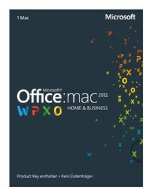 Microsoft Office Mac Home and Business 2011 - 1MAC (Product Key Card ohne Datenträger)