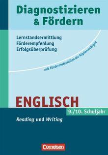 """Diagnostizieren und Fördern - Kopiervorlagen - Englisch: 9./10. Schuljahr - """"Reading"""" und """"Writing"""": Kopiervorlagen"""