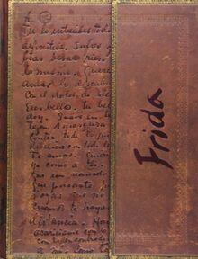 Faszinierende Handschriften Frida Kahlo Die endgültige Verbindung - Faux Leder - Notizbuch Groß Liniert - Paperblanks