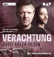 Verachtung. Carl Mørck, Sonderdezernat Q, Fall 4: Hörspiel mit Justus von Dohnányi, Denis Moschitto u.v.a. (1 mp3-CD)