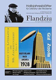 FLANDZIU: Halbjahresblätter für Literatur der Moderne (Neue Folge)