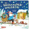 Die Weihnachtswarterei: Pappbillderbuch mit Drehscheibe, Gucklöchern und Klappen