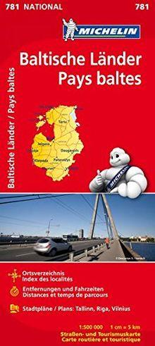 Michelin Baltische Länder (Estland, Lettland und Litauen): Straßen- und Tourismuskarte 1:500.000 (Michelin Nationalkarte)