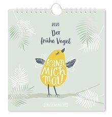 Der frühe Vogel 2021 Postkartenkalender