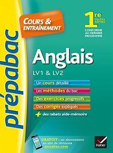 Prepabac Cours Et Entrainement: 1re - Anglais - Lv1 & Lv2 (Toutes Series)