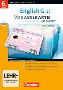 English G 21 - Lernsoftware - Vokabelkarteien interaktiv - zu allen Ausgaben: EG 21 Band 2; 6.Klasse Vokabelkarteien interaktiv zu allen Ausgaben