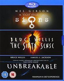 M Night Shyamalan: Signs / Sixth Sence / Unbreakable [Blu-ray] [UK Import]