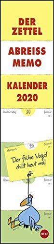 Zettel-Abreiß-Memo-Kalender 2020 11x49cm