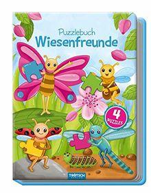 Puzzlebuch Wiesenfreunde, Kinderbuch, Tiere, Tierbuch: Insekten, Wiesentiere, Puzzlebuch, Spielbuch für Kinder
