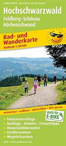 Hochschwarzwald, Feldberg - Schönau - Höchenschwand: Rad- und Wanderkarte mit Ausflugszielen, Einkehr- & Freizeittipps, Mountainbikerouten, ... 1:50000 (Rad- und Wanderkarte / RuWK)
