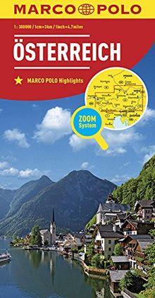 MARCO POLO Länderkarte Österreich 1:300 000 (MARCO POLO Länderkarten)