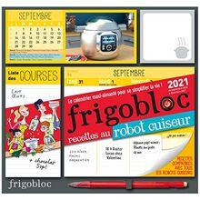 Frigobloc Robot-Cuiseur 2021 - Calendrier d'organisation familiale (de sept. 2020 à décembre 2021) (P.BAC FRIGOGAMM)