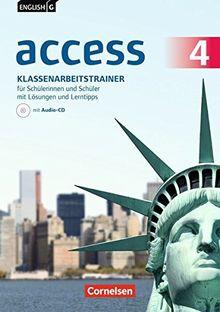 English G Access - Allgemeine Ausgabe: Band 4: 8. Schuljahr - Klassenarbeitstrainer mit Audio-CD, Lösungen online und Lerntipps