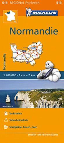 Michelin Normandie: Straßen- und Tourismuskarte 1:200.000 (MICHELIN Regionalkarten)