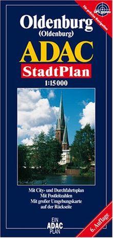 ADAC Stadtpläne, Oldenburg: Mit Cityplan. Mit Radwegen. Mit Postleitzahlen. Mit großer Umgebungskarte