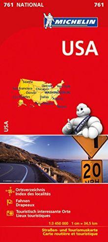 Michelin USA: Straßen- und Tourismuskarte 1:3.450.000 (Michelin Nationalkarte)