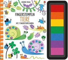 Fingerstempeln: Tiere: mit 7 Fingerstempelfarben