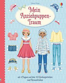 Mein Anziehpuppen-Traum: mit 4 Puppen und über 50 Kleidern zum Herausdrücken