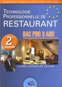 Techno Restaurant Bac Pro - Deuxième Annee