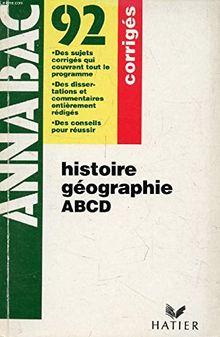 HISTOIRE GEOGRA CORRIGES (Annabac Corrige)