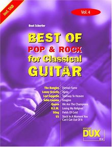 Best of Pop & Rock for Classical Guitar 4. Gitarre, Tabulatur