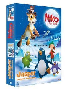 Coffret special hiver : japser pingouin explorateur ; niko le petit renne [FR Import]