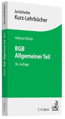 BGB Allgemeiner Teil: Ein Studienbuch