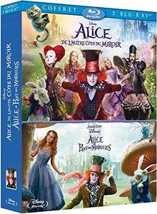 Coffret alice 2 films : alice au pays des merveilles ; alice de l'autre côté du miroir [Blu-ray] [FR Import]