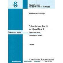 Öffentliches Recht im Überblick 2. Landesrecht Bayern. Karteikarten: Baurecht - Kommunalrecht - Polizeirecht