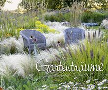 Gartenträume 2021: Großer Wandkalender. Foto-Kunstkalender zum Thema Gärten. PhotoArt Kalender im Querformat. 55 x 45,5 cm