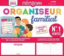 Organiseur familial Mémoniak 2020-2021 - Calendrier sur 16 mois de sept 2020 à déc 2021 : des magnets ultra-solides et poster des règles positives de ... en cadeau ! (ORGANISEURS FAMILIAUX MEMONIAK)