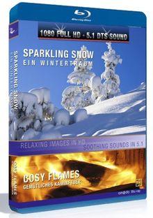 Sparkling Snow / Cosy Flames (Winterlandschaften + Kaminfeuer) [Blu-ray]