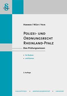 Polizei- und Ordnungsrecht Rheinland-Pfalz (Skripten - Öffentliches Recht)