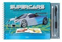 Supercars! Zeichne deine eigenen Sportwagen: Buch mit Spezialstiften, Kurvenlinealen, Schablonen und Designerblock