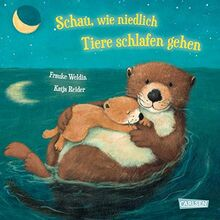Schau, wie niedlich Tiere schlafen gehen: Gutenachtbuch mit Reimen ab 2 Jahren