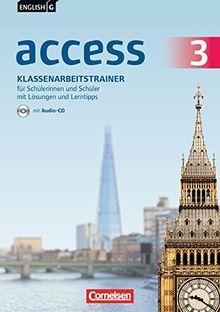 English G Access - Allgemeine Ausgabe: Band 3: 7. Schuljahr - Klassenarbeitstrainer mit Audio-CD, Lösungen und Lerntipps