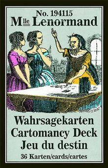 Lenormand Wahrsagekarten: 36 Karten mit Anleitung
