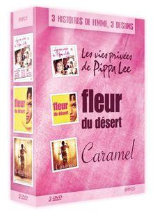 Coffret special féminin : les vies privées de pippa lee ; fleur du désert ; caramel [FR Import]